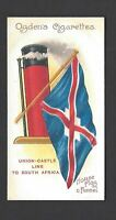 OGDENS - FLAGS & FUNNELS OF LEADING STEAMSHIP LINES - #24 UNION CASTLE LINE