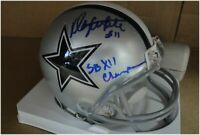 Danny White Hand Signed Auto Mini Helmet  Cowboys SB XII Champ Beckett