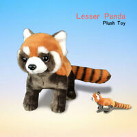 Realistic Lifelike Red Panda RaccoonPlush Toy Stuffed Fluffy Doll Kid Xmas Gift