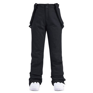Unisex Women Men's Essential Snow Pants Sports Insulated Cargo Bib Overalls Pant