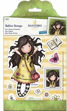 Docrafts urban rubber stamp Santoros Gorjuss Postal Collection Spring at Last