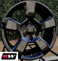 """20 x9"""" inch RW 5652 Wheels for Chevy Silverado 1500 Gloss Black Rims 6x139.7 Set"""