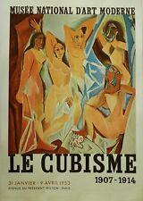 Lithography lithographie Litografia Locandina PABLO PICASSO 1953 LE CUBISME