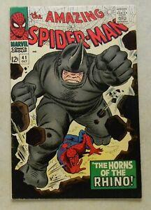 Amazing Spider-Man #41 $2500.00 (1966, Marvel) 8.0 VF OW/WHITE KEY 1ST RHINO!