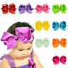 New Fashion Kids Headwear Headband 6 inches Baby Colorful Bow Tie Children