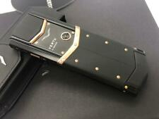 Vertu Signature S Design Black Gold Unlocked 2G GSM Mobile Phone. Luxury