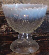 ANTIQUE 1906 NORTHWOOD GLASS HILLTOP VINES OPALESCENT COMPOTE 3 LEGGED