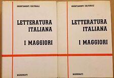 MARZORATI ORIENTAMENTI CULTURALI LETTERATURA ITALIANA I MAGGIORI 2 VOLUMI