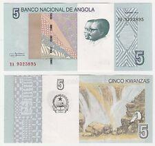 Angola 5 KWANZAS 2012 2017 P-New1 UNC FIOR BANCONOTA-Cascata