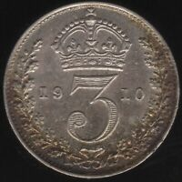 1910 Edward VII Silver Threepence Coin | British Coins | Pennies2Pounds