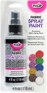 Tulip Fabric Spray Paint 4oz-Sparkling Star Glitter To Add Color to Clothing