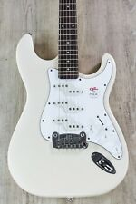 G&L Tribute Comanche Electric Guitar, Brazilian Cherry Board - Olympic White