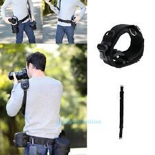Adjustable Padded Waist Belt Lens Bag Pouch Holder Pack Strap For DSLR Camera