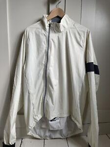 Mens Rapha Cream Rain JackeWaterproof Showerproof Lightweight Cycling Jacket XXL