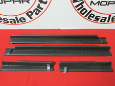 JEEP Wrangler Door Sill Entry Guards 4 DOOR Jeep Logos NEW OEM MOPAR