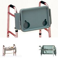 Nova Medical Products Tray For Folding Walker Cup Holders Home Care Gray New