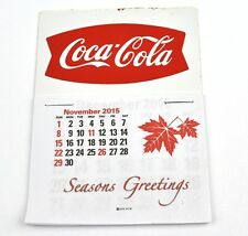 Coca Cola Coke USA Kalender 2016 Calendar - Fishtail Logo rot