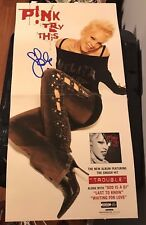 P!nk ( pink ) signed Try This promo poster