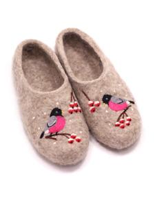 "Russian Slippers Felt 100% ""Bullfinch""  Handmade Valenki Woole Brand"