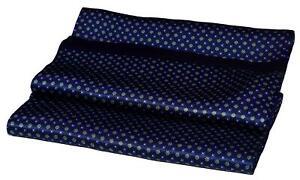 Blue Green Flower Print Luxurious Double Layer Long Silk Scarf (M1631)
