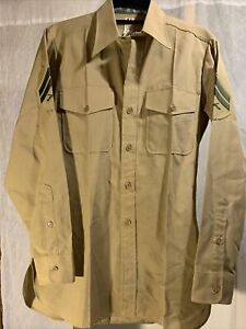 Marine Flying Cross Distinguished Service Shirts Long Sleeve  Corporal Preowned