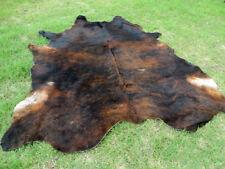 New Large Brindle Brown Cowhide Rug natural Cowhides Cow Hide Skin 6X6 Feet Rrs