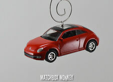 New Style Red Volkswagen Beetle Custom Christmas Ornament VW Bug Herbie 1/64 A5