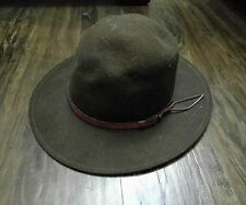 Vtg Felt Hat Fishing Camping Crusher Made in USA no name Large