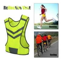 Fluorescent Vest Adjustable Reflective Safety Vest for Bicycle Running Hiking