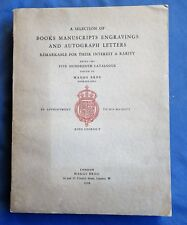 Books Manuscripts Engravings Autograph Letters 500Th Catalogue Maggs Bros 1928