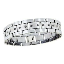 Mens Tungsten Carbide Diamond Bracelet New Style  .25 Carat Total Weight