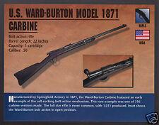 U.S. WARD-BURTON MODEL 1871 CARBINE Gun Rifle Atlas Classic Firearms PHOTO CARD