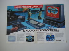advertising Pubblicità 1987 PHILIPS PERSONAL COMPUTER NMS 8280