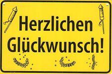"""ALBATROS Ortsschild wie Postkarte (245) """"Herzlichen Glückwunsch!"""""""