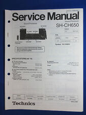 Technics SH-CH650 System Service Manual Factory Original The Real Thing