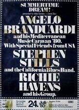 SUMMERTIME DREAM - 1980 - Konzertplakat - Branduardi - Stills - Richie Havens