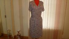 NWT ESCADA SPORT short sleeves wrap dress in pastel red animal prints sz 44/14US