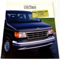 FORD 1992 CLUB WAGON PASSENGER VAN Vintage SALES BROCHURE/CATALOG Original 14 Pg