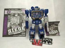 Transformers War for Cybertron Siege Voyager Soundwave WITH Ravage and Laserbeak