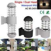 Outdoor Up&Down LED Wall Mount Sconce Landscape Light E27 Socket Lamp Waterproof