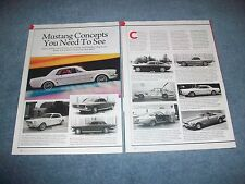 """Ford Mustang Concepts History Info Article """"Mustang Concepts You Need to See"""""""