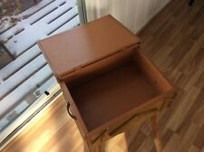 Vintage Rustic Homemade Nightstand End Table Flip Top Awesome 1950s Decor