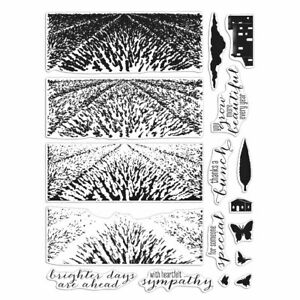 Hero Arts CM410 LAVENDER FIELD Color Layering HEROSCAPE 6x8 Clear Stamp Set