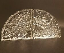STUNNING WATERFORD CRYSTAL BOOKENDS FANS BRILLIANT CUT 1 PAIR