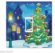 Interruptor de luz de Decoración de Navidad cubrir Adhesivo Calcomanía HD Impresión árbol de Navidad