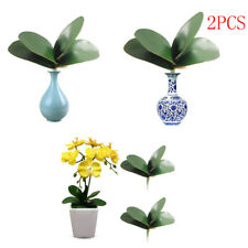 2pcs Artificial Butterfly Orchid Silk Leaf Fake Flower Home Wedding Party Deco &
