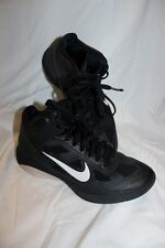 NIKE Men's Hyperfuse ZOOM Men Size 8 Black Athletic Shoe High Top 2010 Sneakers