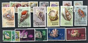 Kenya 1971 shells & 1977 Minerals  to 20/- used