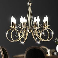Decken Lampe messing Kronleuchter Wohn Zimmer Pendel Beleuchtung Hänge Strahler