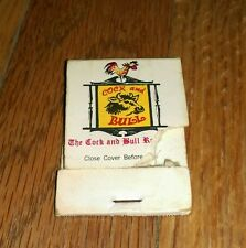 Vintage Matchbook Cock And Bull Restaurant Red Fox Lounge Lahaska Pennsylvania